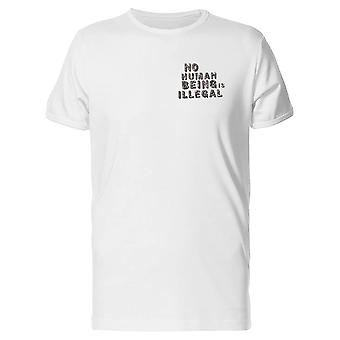 No Human Being Is Illegal Tee Men's -Image by Shutterstock