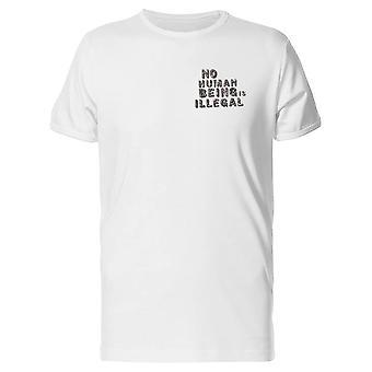 Kein Mensch ist Illegal T-Shirt Herren-Bild von Shutterstock
