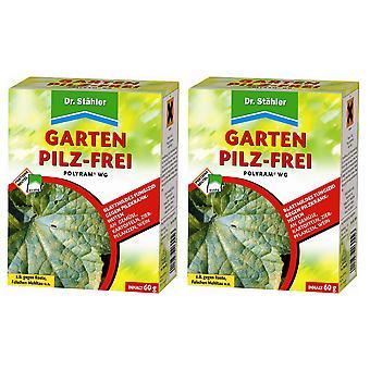 Sparset: 2 x DR. STÄHLER Polyram WG Puutarha Sieni-free, 60 g