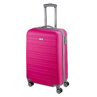 d&n Línea de viaje 9400 Carro de equipaje de mano para mujer S, 4 ruedas, 54 cm, 36 L, rosa