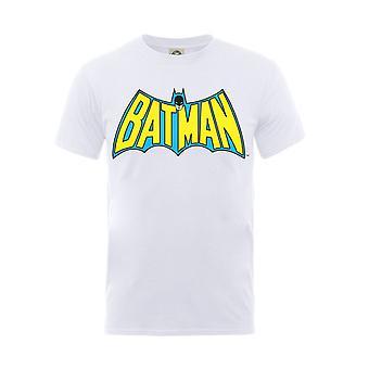 Batman T Shirt klassische Logo neue offizielle DC Comics Kinder weiß im Alter von 5-13