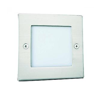 Recessed Spotlight Led, Square, Stainless Steel