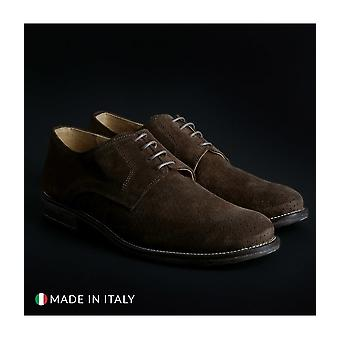 SB 3012 - shoes - lace-up shoes - 06_CAMOSCIO-B_MARRONE - men - saddlebrown - EU 43