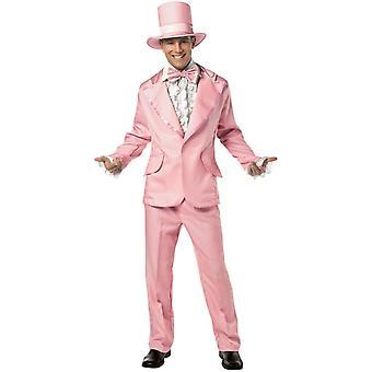 70' S Man Adult kostym rosa