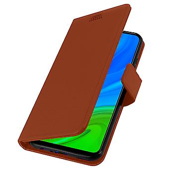 Huawei P smart 2020 Folio case with video support - brown