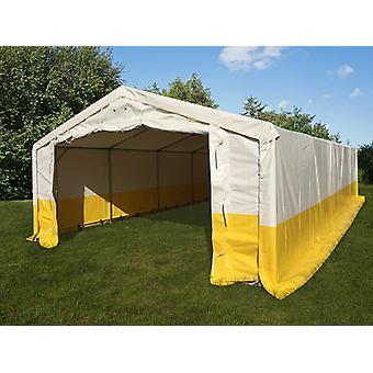 Lagertelt/arbejdstelt PRO 5x10m, PVC, Hvidt/gult, Flammehæmmende