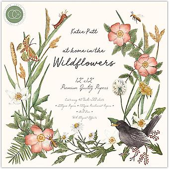 Craft Consortium hjemme i Wildflowers 12x12 Tommer Papir Pad