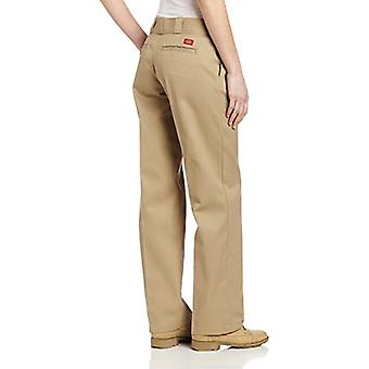 Dickies Women's Original Work Pant with Wrinkle And Stain Resistance,Khaki,6 ...