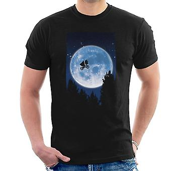 E.T. Flying Bicycle Movie Poster Men's T-Shirt