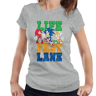 Sonic The Hedgehog Life In The Fast Lane Women's T-Shirt