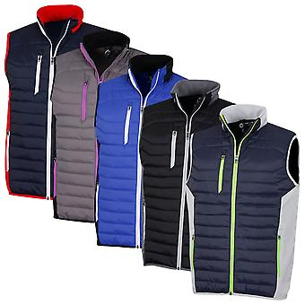 Sunderland Mens 2020 Anton Padded Full Zip Showerproof Bodywarmer Golf Gilet