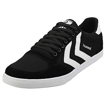 hummel Slimmer Stadil Low Mens Casual Trainers in Black White
