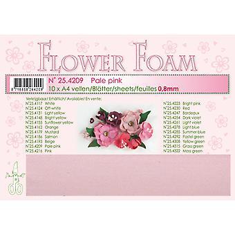 Leane Creatief Flower Foam Sheets A4 Pale Pink
