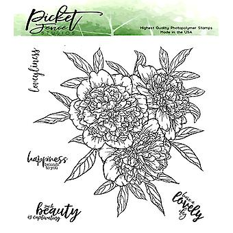 Picket Fence Studios Ryppyinen Pioni Bouquet Selkeä Postimerkit