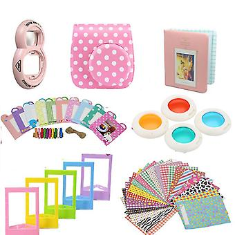 Accessory Sets for Fujifilm Instax Mini 8/9-Dotted pink