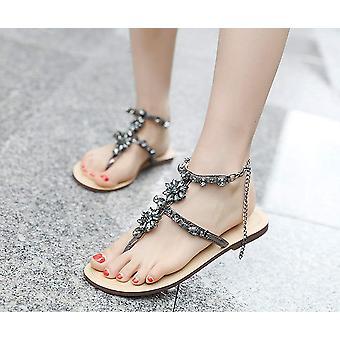 Stupmary Women Flat Sandals Crystal Summer Gladiator Sandals Flip Flops Beach...