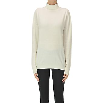 Jil Sander Ezgl035031 Women's White Cashmere Sweater