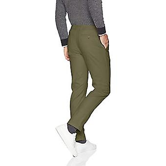 Essentials Men&s Slim-Fit Casual Stretch Khaki, Olive, 29W x 32L