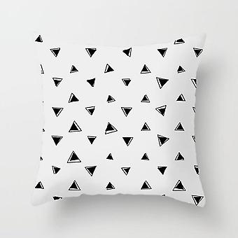 Black And White Geometric Polyester Decorative Throw Pillowcases