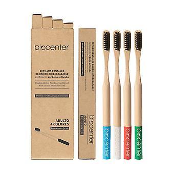 Pack Cepillos De Dientes Bambú Y Carbón Activado Adulto None