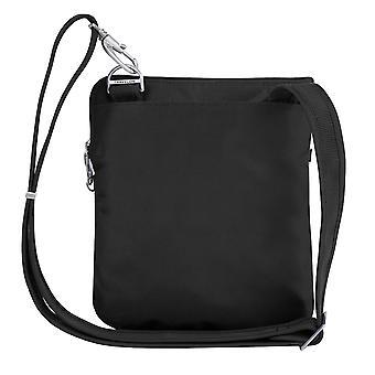 Travelon Anti-Theft Classic Slim Dbl Zip Crossbody Bag,, Black, Size One Size