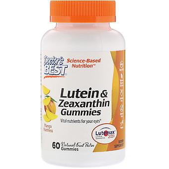 Doctor's Best, Lutein & Zeaxanthin Gummies, Mango Madness, 60 Gummies