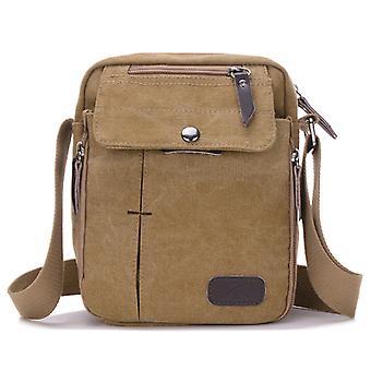 Men women casual small messenger bag canvas shoulder bag