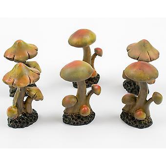 Small 7.6cm Resin Mushroom Cluster for Miniature Garden Crafts