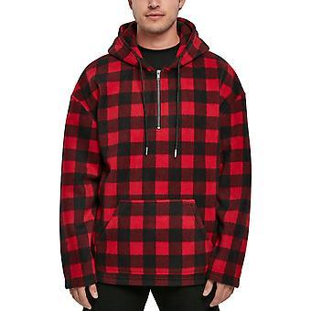 Urban Classics - Polar Fleece Half Zip Hupullinen flanelli punainen