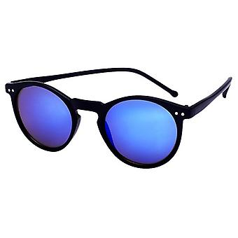 Sunglasses Unisex matt black with mirror lens (AZ-16-104)