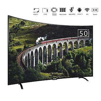 50 pulgadas Smart Tv Led 4k HD Televisión Tv Pantalla Curvada Con Dvb-s2/t2