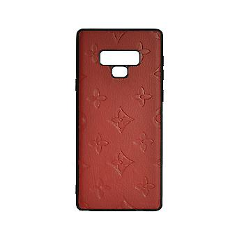 Phone Case Shockproof Cover Monogram GG For Samsung Note 9 (Red)