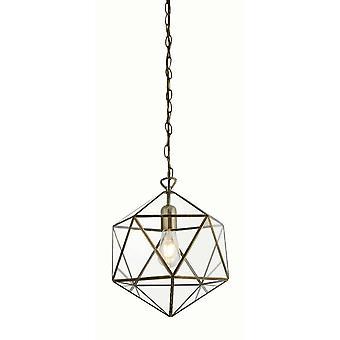 Linternas reflectores - 1 jaula de luz prisma colgante latón antiguo, E27