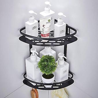 Triangular Shaped Wall Mounted 3 Tier Corner Shelf For Bathroom Storage