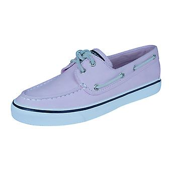Sperry Bahama Womens Deck / Canvas Boat Shoes - Light Rose
