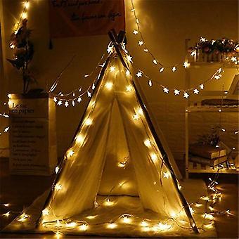 Led Star Light - String Twinkle Garlands Battery Powered Christmas Lamp