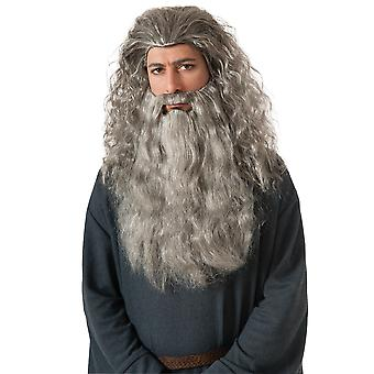 Gandalf Wizards Merlin The Hobbit Movie Men Costume Wig & Beard