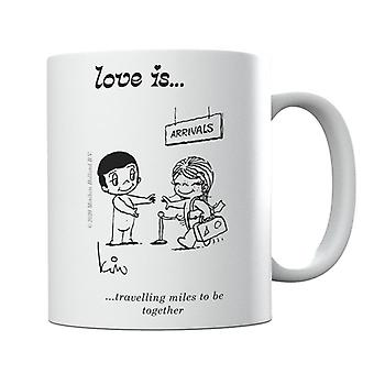 Love Is Travelling Miles To Be Together Mug