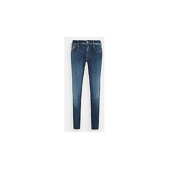 Replay Anbass Hyperflex Stretch Blue Denim Slim Jeans