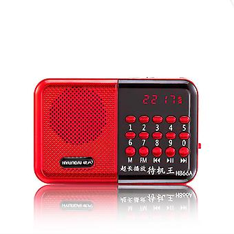 Portable Radio TF Card Rechargeable Speaker Music Player for Elderly