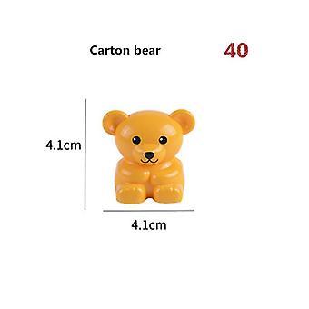 ビッグサイズのビルディングブロック動物アクセサリーフィギュアライオンパンダ互換性のあるおもちゃ