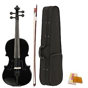 כינור כינור אקוסטי בגודל מלא 4/4 עם קשת במקרה רוזין עשוי מרוכבים