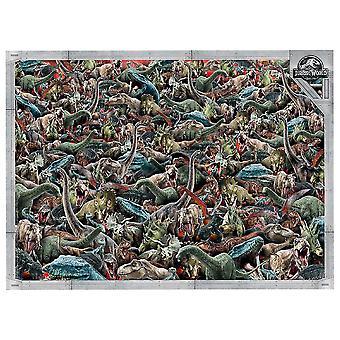 Clementoni Puzzle Jurassic World Impossible Puzzle (1000)