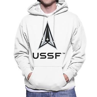 U.S. Space Force Dark Logo USSF Dark Text Men's Hooded Sweatshirt