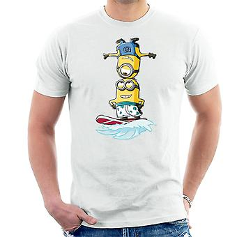 Despicable Me Minions Head Surfing Men's Camiseta