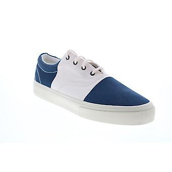 Sebago John Flags  Mens Blue Canvas Lifestyle Sneakers Shoes