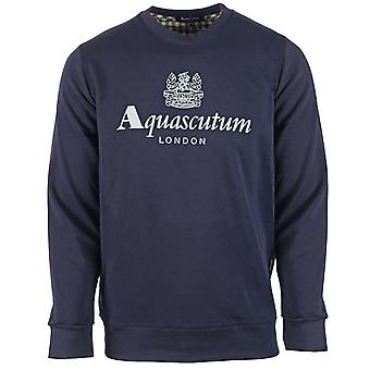 Aquascutum Waterfield Logo Laivaston Collegepaita
