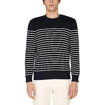 Saint James 864551 Men's Blue Wool Sweater