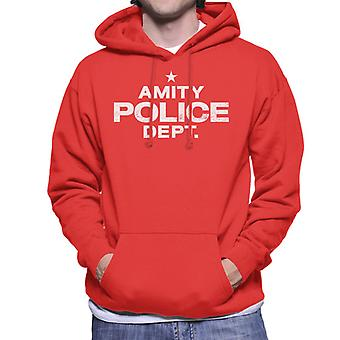 Jaws Amity Police Dept Men's Hooded Sweatshirt