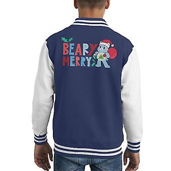 Care Bears Unlock The Magic Christmas Beary Merry Kid's Varsity Jacket
